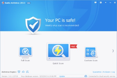Baidu Antivirus 2013 Beta