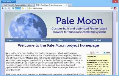 Pale Moon Web Browser for Windows