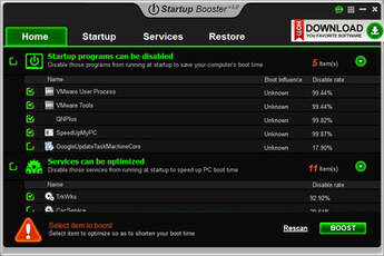 Anvi startup booster for Windows