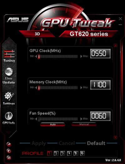 Asus GPU Tweak video card overclocking tool for Windows