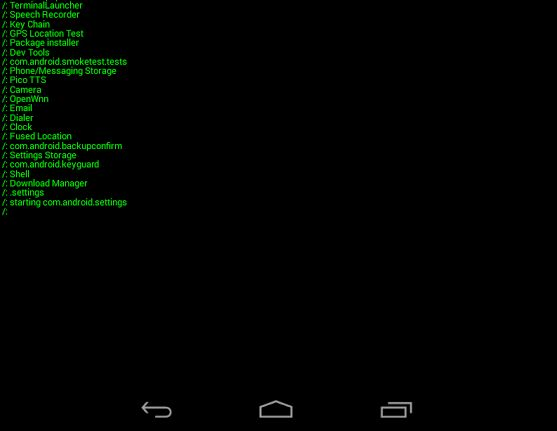 Terminal Launcher for Google Android
