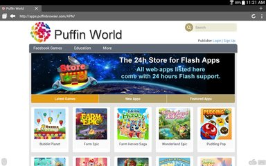 Puffin Mobile Web Browser for Google Android Smartphone and tablets