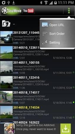 Soul Movie video player for Google Android