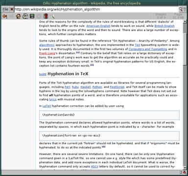 Dillo Web Browser