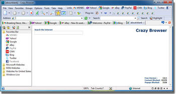 Crazy Tab Web Browser for Windows PC
