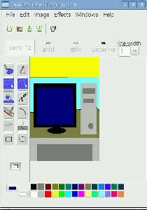 Gpaint Linux Paint program